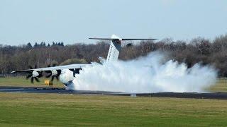 Download Wet runway test Airbus A400M Atlas at Twente Airport Video