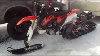 Download Turbo KTM 450 Snowbike Video