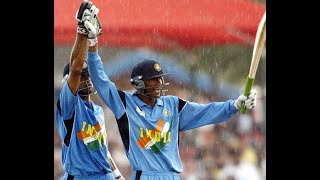 Download Rare India v New Zealand World Cup 2003 ! NZ 146 all out and Kaif and Dravid's 129 runs parternship Video
