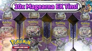 Download Opening 10x Magearna EX Battle Heart Tins! $200 worth! Pokemon TCG unboxing Video
