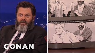 Download Nick Offerman's Book Features A Homoerotic Chris Pratt Comic - CONAN on TBS Video