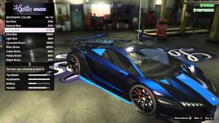 Download GTA 5 Online: Tron ″Paint Job″ Best Rare Zentorno Paint Job #3 Video
