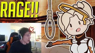 Download xQc RAGES at MERCY MAIN!- OVERWATCH WTF FUNNY MOMENTS MONTAGE! Video