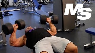 Download Jay Cutler's Training Tips: Maximum Contraction Dumbbell Bench Press Video