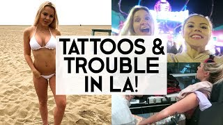 Download A NEW Tattoo & Trouble In Paradise | STUCK IN LA ?!?! Video