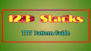 Download + 1-2-3 stacks TTT pattern | Swertres Tips Video