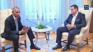 Download President Obama Meets with Prime Minister Alexis Tsipras Video