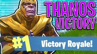 Download EPIC THANOS VICTORY!! - FORTNITE BATTLE ROYALE! Video