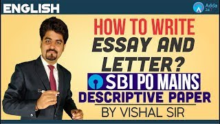 Download SBI PO MAINS | How to write Essay & Letter? | Descriptive Paper | Vishal Sir Video