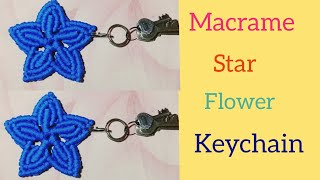 Download DIY Macrame Flower Star Keychain Tutorial || Full Part Video