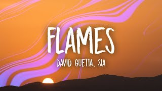 Download David Guetta & Sia - Flames (Lyrics) Video