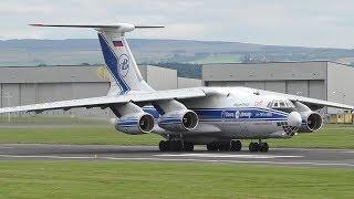 Download Volga-Dnepr Ilyushin IL76 Landing at Prestwick Airport Video