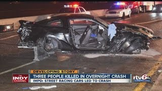 Download Police ID victim of deadly street racing crash Video