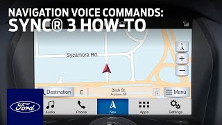 Download How to Use SYNC®3 With Navigation Voice Commands | SYNC 3 How-To | Ford Video