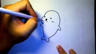 Download วาดการ์ตูน กันเถอะ สอนวาดรูป การ์ตูน แมวน้ำ มาเมะโกมะ Video