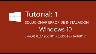 Problem installing Windows 10 on Samsung laptop - error 0xC1900101 - 0x20017 Free Download Video ...