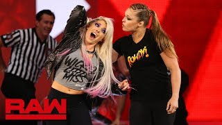 Download Ronda Rousey violates suspension to brutalize Alexa Bliss: Raw, July 16, 2018 Video