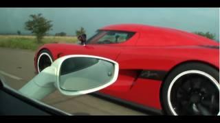 Download Koenigsegg Agera R vs Ferrari 458 Italia Interiour view (Race #1 from Ferrari) Video