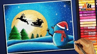 Download How to draw Santa Claus flying on his sleigh- Step by step for kids Video