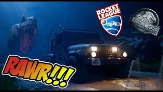 Download JURASSIC PARK EN ROCKET LEAGUE!!! - JEEP WRANGLER 1993 Video