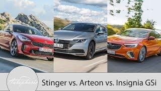 Download Vergleich: Kia Stinger vs. Opel Insignia GSi vs. VW Arteon / Pro und Contra Talk - Autophorie Video