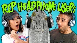 Download Teens React to RIP Headphone Users Compilation Video