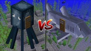 Download Minecraft SQUID HOUSE VS SHARK HOUSE / MAKE YOUR OWN HOUSE IN MINECRAFT !! Minecraft Mods Video