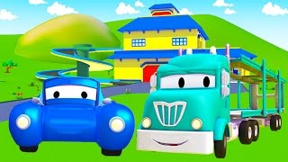 Download The Car Carrier 🏎️ and his friends in Car City 🚛 Cars & Trucks construction cartoon (for children) Video
