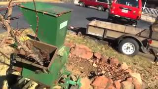 Download Gravely L and Mac Kissic Mighty Mac chipper in action Video