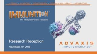 Download Advaxis Research Reception at SITC 2016 Video