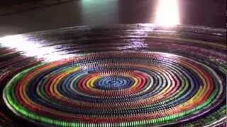 Download World Record: Most dominoes toppled in a spiral (30,000) complete Toppling Video