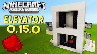 Download MCPE 0.15.0 REDSTONE TUTORIAL - Realistic Elevator In MCPE! Video