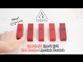 Download 3CE 신상 레드 레시피 립스틱 발색! | 3CE Red Recipe Swatches | 수뷰티 Video