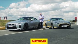Download Which is fastest? Nissan GT-R takes on Aston Martin V12 Vantage S | Autocar Video