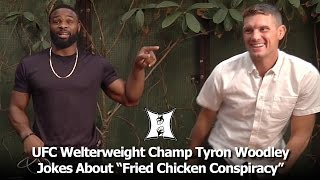 "Download UFC Champ Tyron Woodley Jokes About ""Fried Chicken Conspiracy"" At UFC 209 Media Luncheon Video"