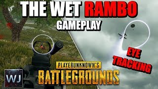 Download GAMEPLAY: The Wet Rambo M249 - Using EYE TRACKING in PLAYERUNKNOWN's BATTLEGROUNDS (PUBG) Video