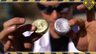 Download Mixing Molten Aluminum With Molten Brass Video