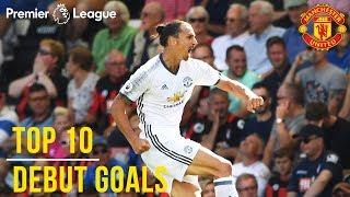 Download Top 10 Premier League Debut Goals | Zlatan, Lukaku, Van Nistelrooy, Rashford | Manchester United Video