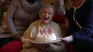 Download World's oldest woman celebrates her 117th birthday Video