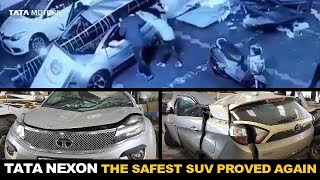 Download CCTV Footage | Tata Nexon Accident | Safest SUV Of India Proved Once Again Video
