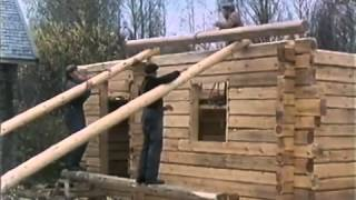 Download Traditional Finnish Log House Building Process Video
