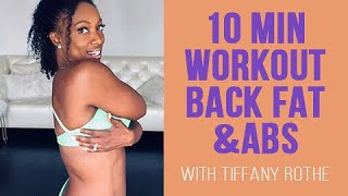 """Download 10 Min Workout for ″Back Fat & Abs"""" with Tiffany Rothe Video"""