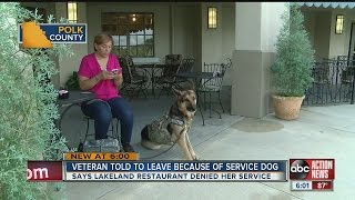 Download Lakeland Army vet with service dog says restaurant asked her to leave Video