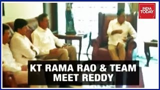 Download Exclusive Photos Of KTR-Jagan Mohan Reddy Meet In Hyderabad For Third Front Talks Video