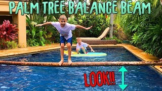 Download Palm Tree Balance Beam - Who Falls Off First?? Video