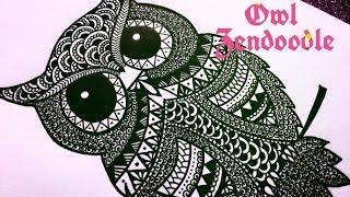 Download Zendoodle - Zentangle Inspired Owl ( Timelapse ) | Karthika Loves DIY Video