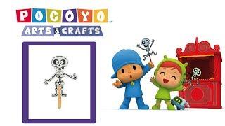 Download Pocoyo Arts & Crafts: Marioneta de esqueleto mexicano | HALLOWEEN Video
