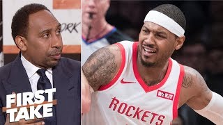 Download Carmelo Anthony should go to Lakers, Heat or just retire - Stephen A. | First Take Video