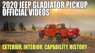 Download 2020 Jeep Gladiator Official Videos - Exterior, Interior, Capability and History Video
