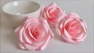 Download 【Paper Flower】とても簡単!美しいバラ Beautiful Paper Rose Video